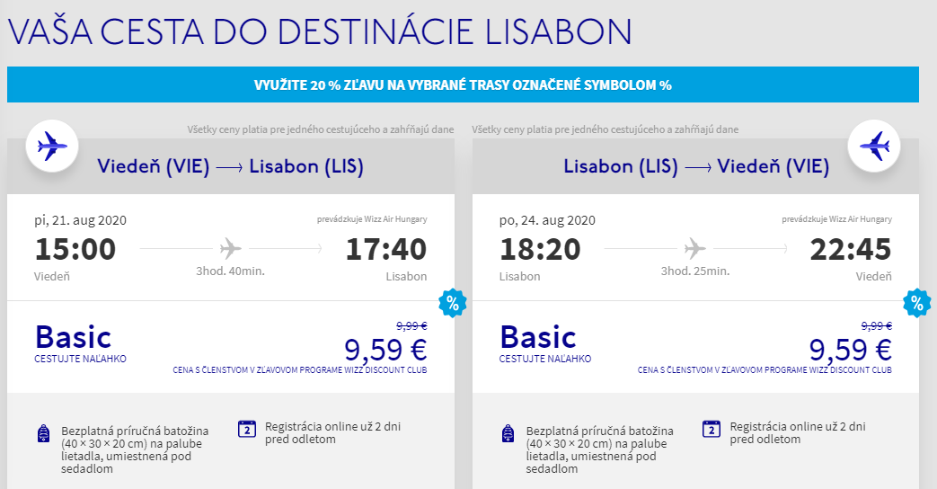Lisabon cez letné prázdniny. Letenky z Viedne od 19 eur