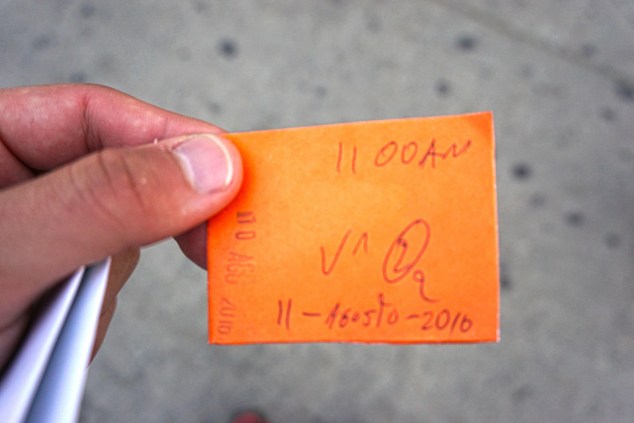 Lístok na autobus v Salente
