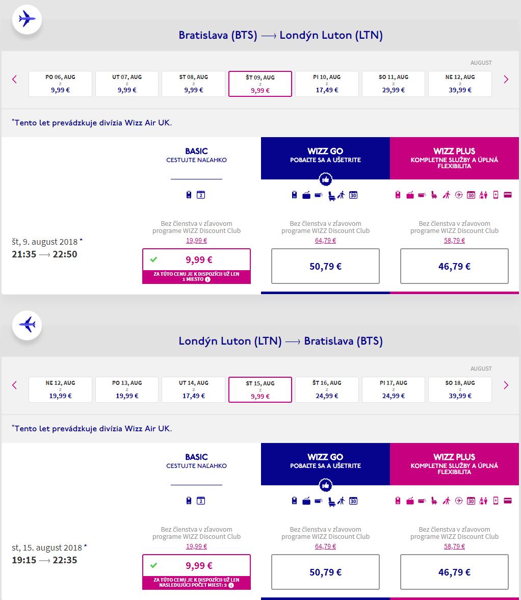 Londýn z Bratislavy cez letné prázdniny s letenkami od 20 eur
