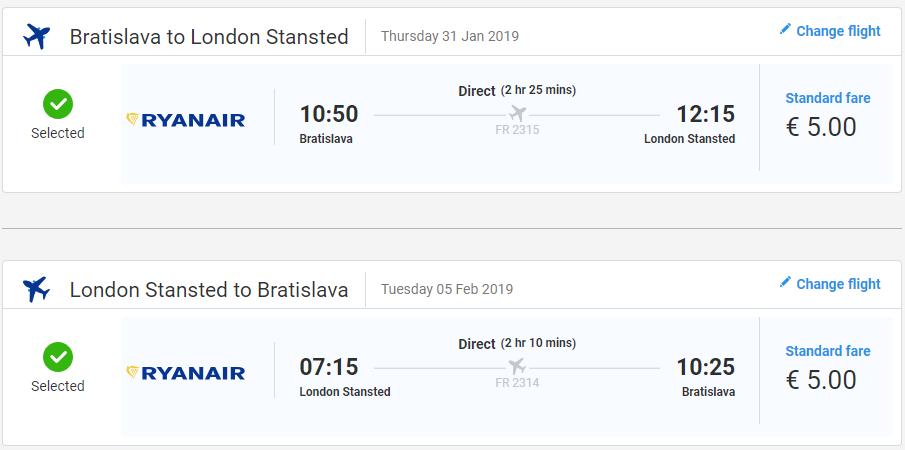 Londýn z Bratislavy s akciovými letenkami už od 10 eur