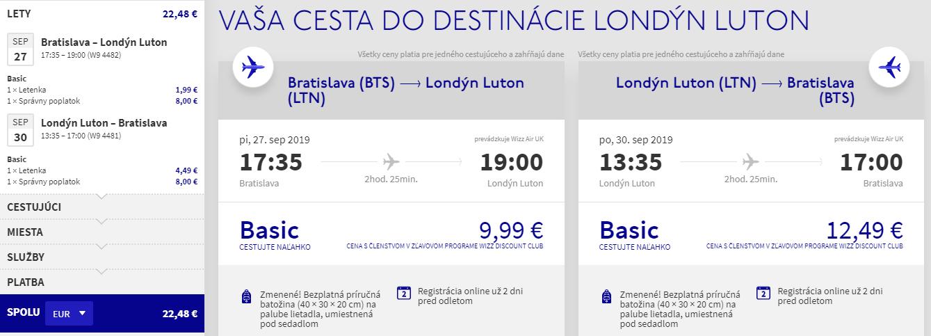 Londýn z Bratislavy s letenkami aj na predĺžený víkend od 22 eur
