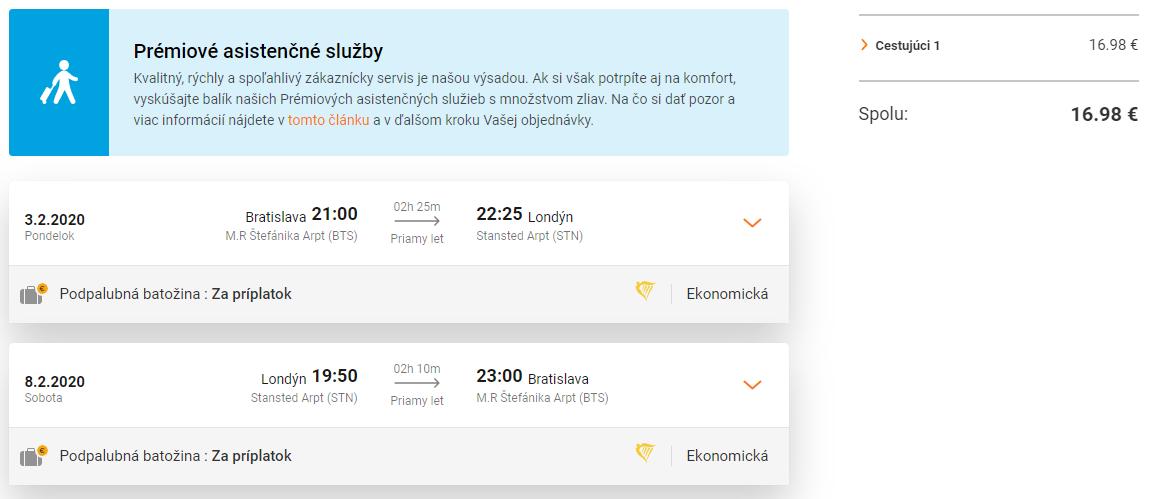 Londýn z Bratislavy s letenkami od 17 eur
