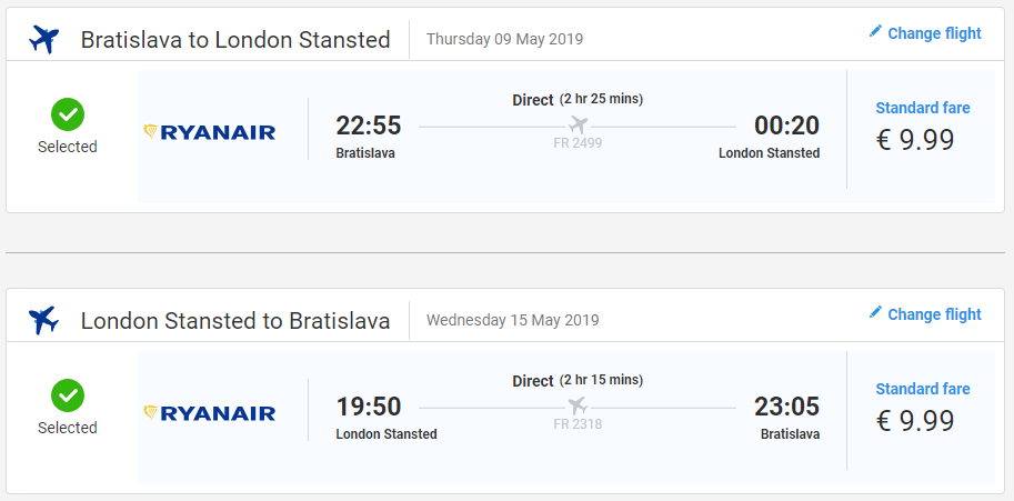 Londýn z Bratislavy v májových termínoch s letenkami od 20 eur