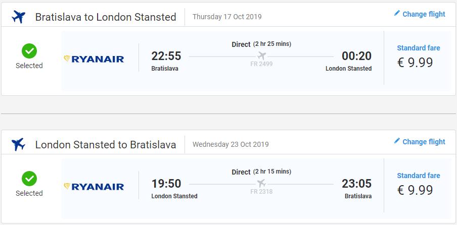 Londýn z Bratislavy v októbrových termínoch s letenkami od 20 eur