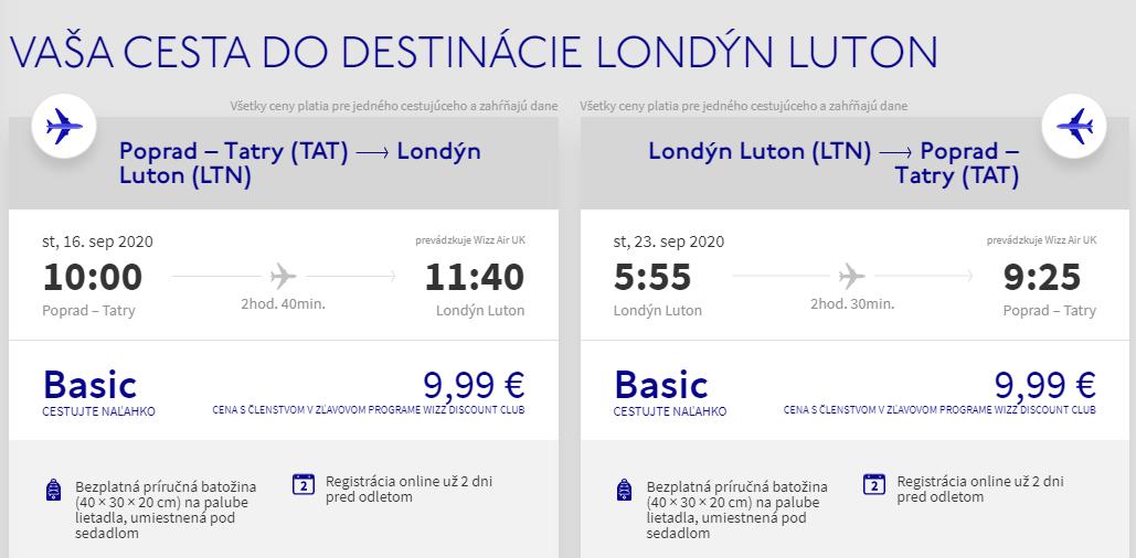 Londýn z Popradu koncom leta. Spiatočné letenky už od 20 eur