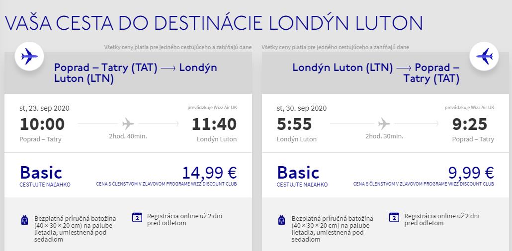 Londýn z Popradu koncom leta. Spiatočné letenky už od 25 eur