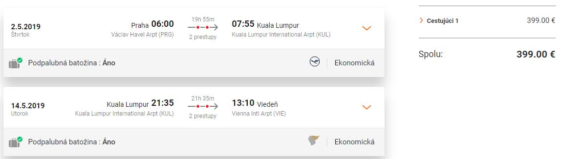 MALAJZIA - Kuala Lumpur s multi-city letenkami od 399 eur