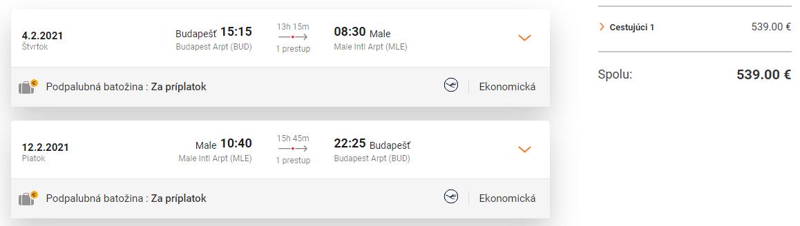 MALDIVY - Male z Budapešti s letenkami od 539 eur