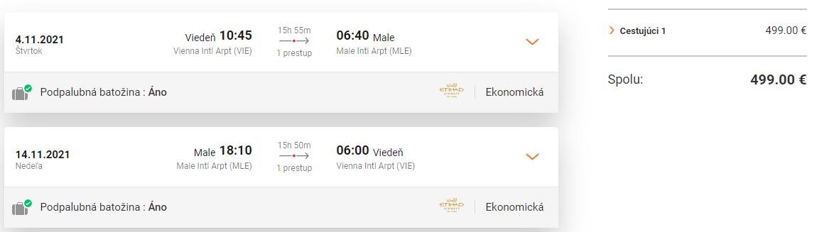 MALDIVY - Male z Viedne s letenkami od 499 eur