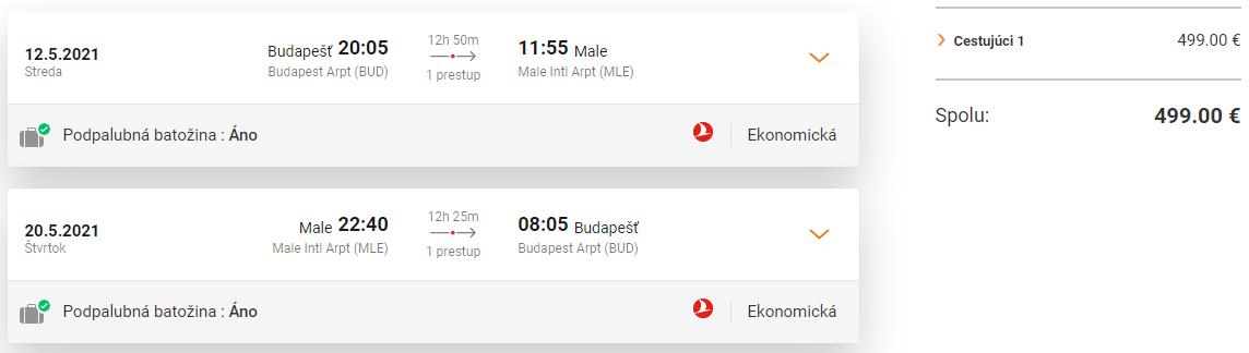 MALDIVY S TURKISH AIRLINES. Letenky z Budapešti od 499 eur