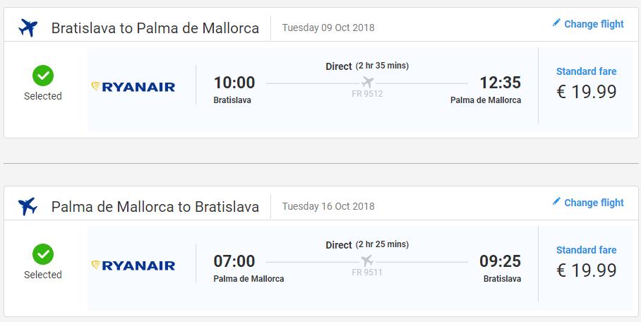 MALORKA - Spiatočné letenky z Bratislavy od 40 eur