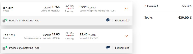 MEXIKO - Cancun z Viedne s letenkami od 439 eur