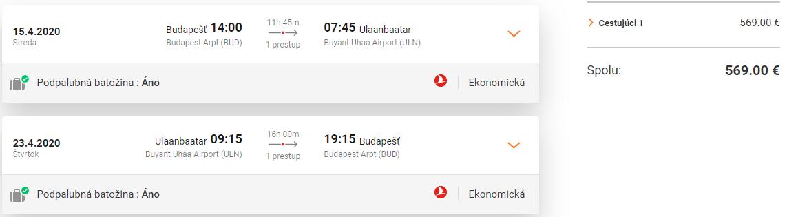 MONGOLSKO S TURKISH AIRLINES - Ulanbátar z Budapešti s letenkami od 569 eur