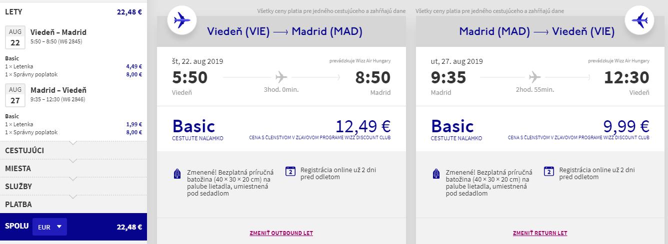 Madrid koncom prázdnin. Letenky z Viedne od 22 eur