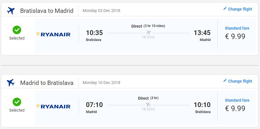 Madrid z Bratislavy s letenkami od 20 eur