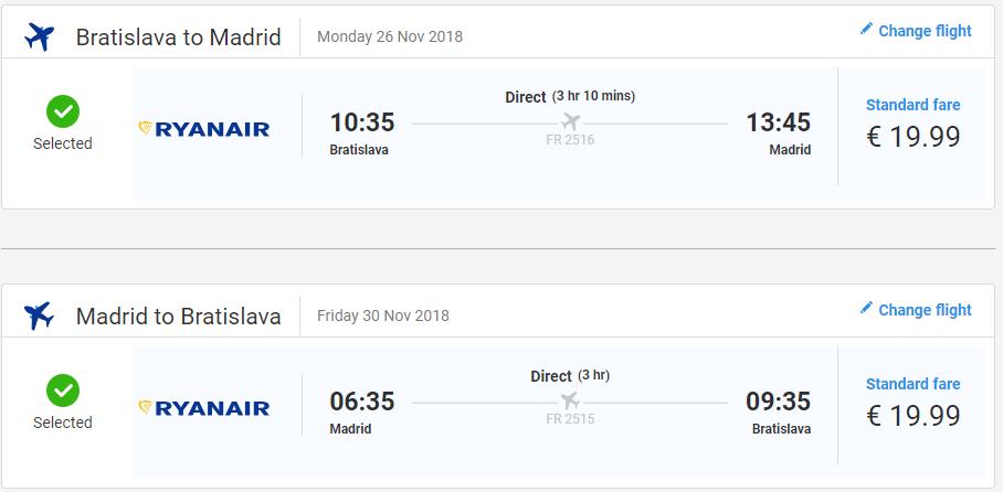 Madrid z Bratislavy s letenkami od 40 eur