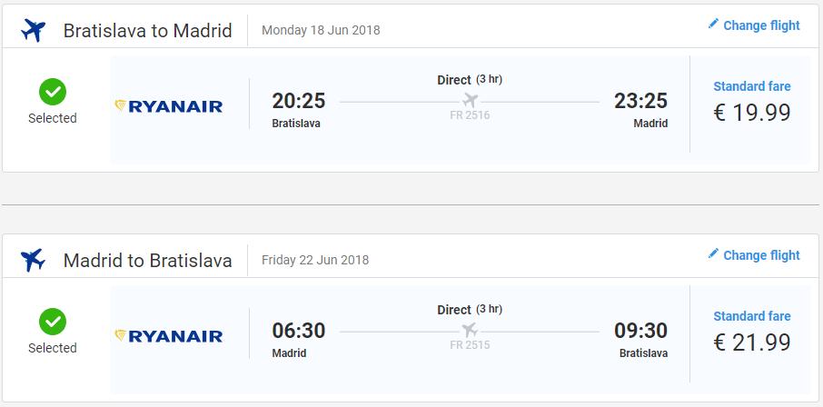 Madrid z Bratislavy v júnových termínoch s letenkami od 42 eur