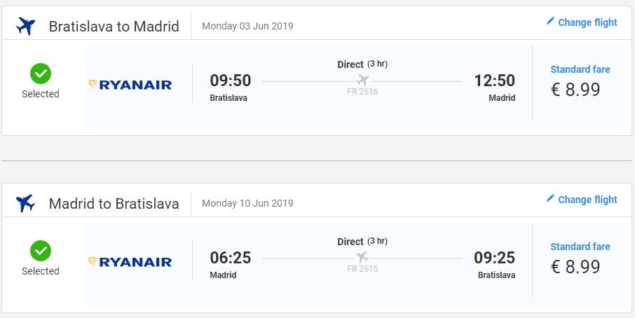 Madrid z Bratislavy v májových termínoch s letenkami od 18 eur
