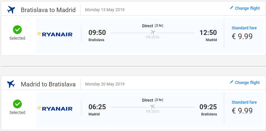 Madrid z Bratislavy v májových termínoch s letenkami od 20 eur