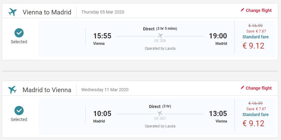 Madrid z Viedne v marcových termínoch s letenkami od 18 eur