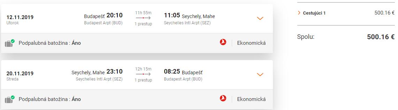 Mahe z Budapešti s letenkami od 499 eur