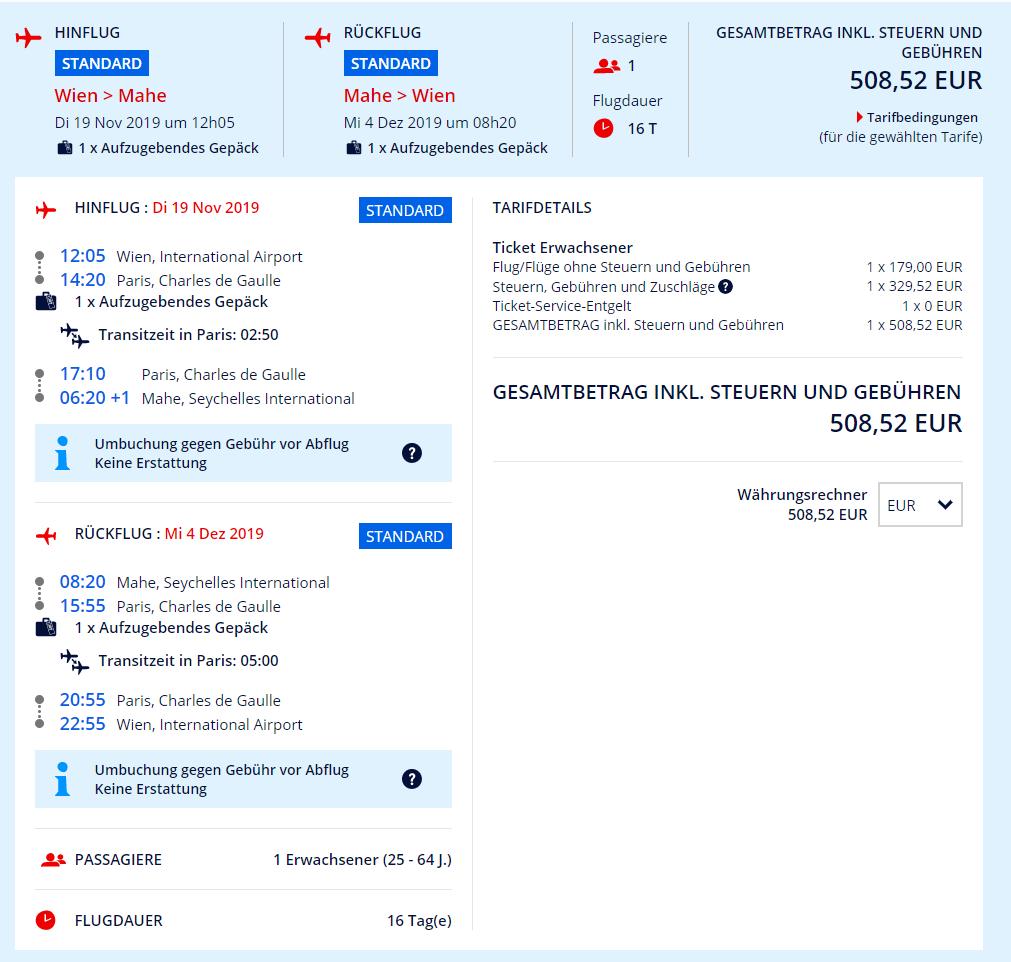 Mahe z Viedne s letenkami od 509 eur