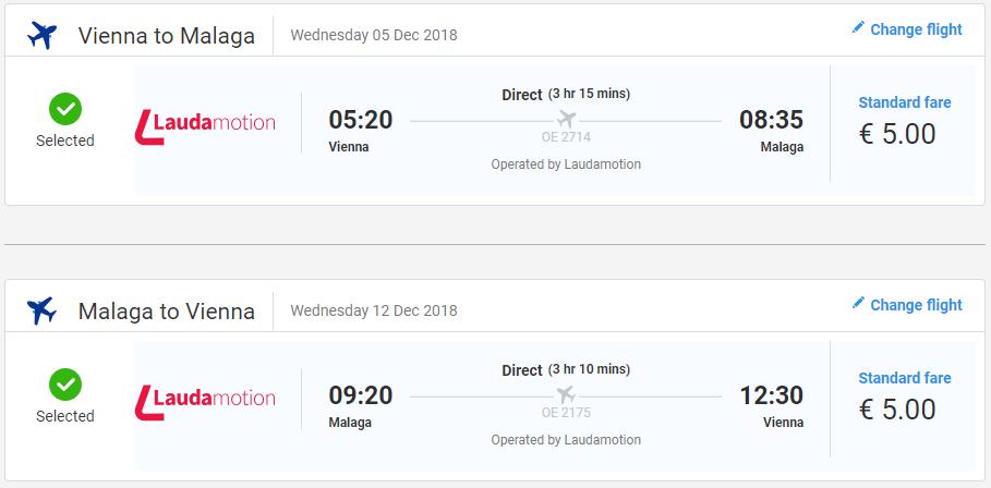 Malaga s lacnými letenkami z Viedne od 10 eur