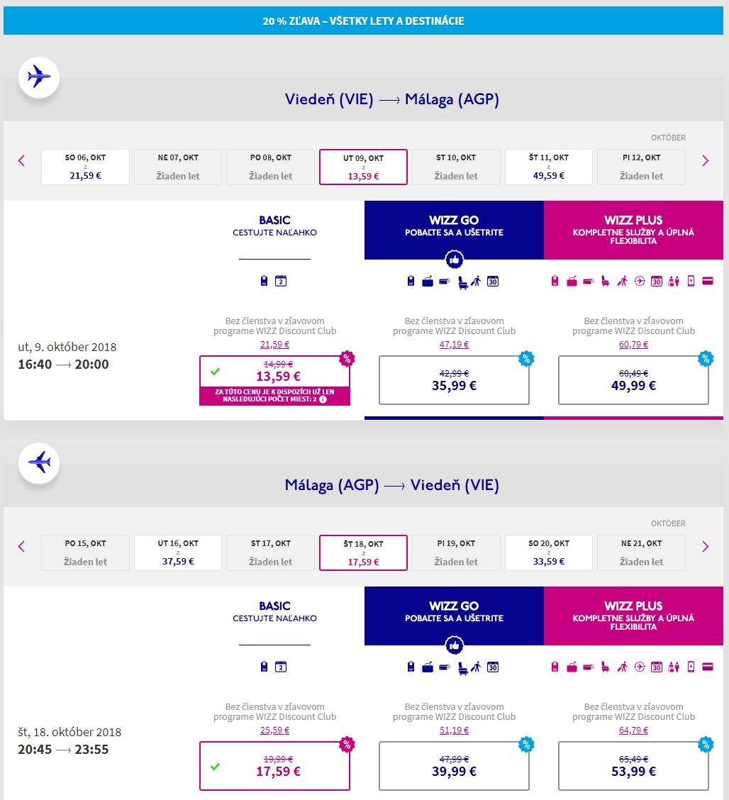 Malaga s lacnými letenkami z Viedne od 31 eur