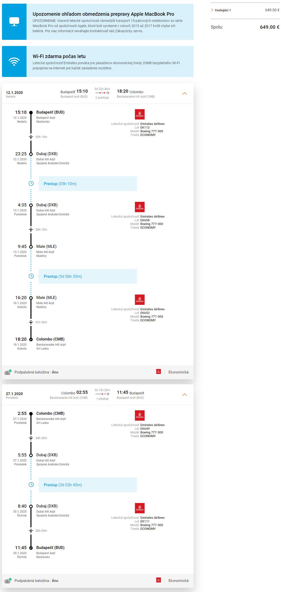 Maldivy, Srí Lanka a Dubaji v rámci jednej cesty s letenkami od 649 eur