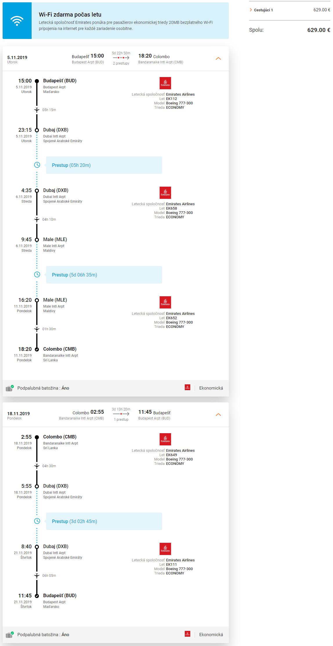 Maldivy a Srí Lanka + 3 dni v Dubaji v rámci jednej cesty s letenkami od 629 eur