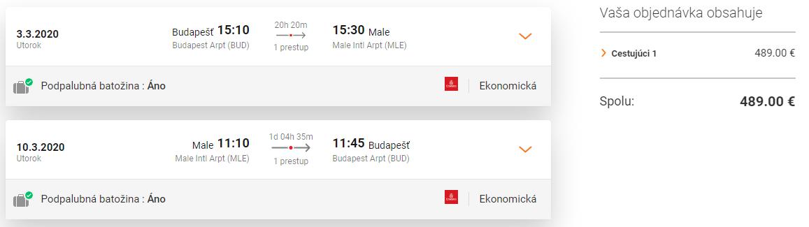 Maldivy z Budapešti s letenkami od 489 eur