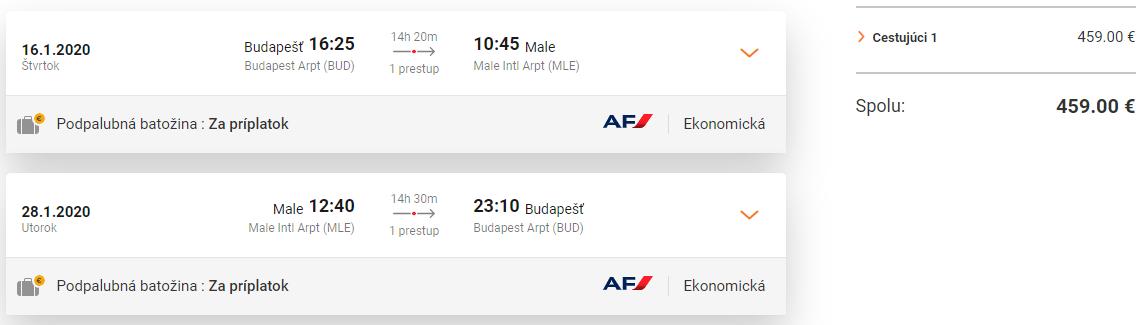 Maldivy z Budapešti v termínoch začiatkom roka s letenkami od 459 eur