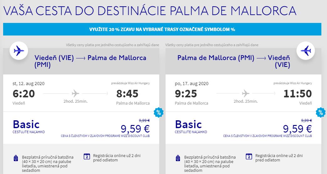 Mallorca cez letné prázdniny. Letenky z Viedne už od 19 eur
