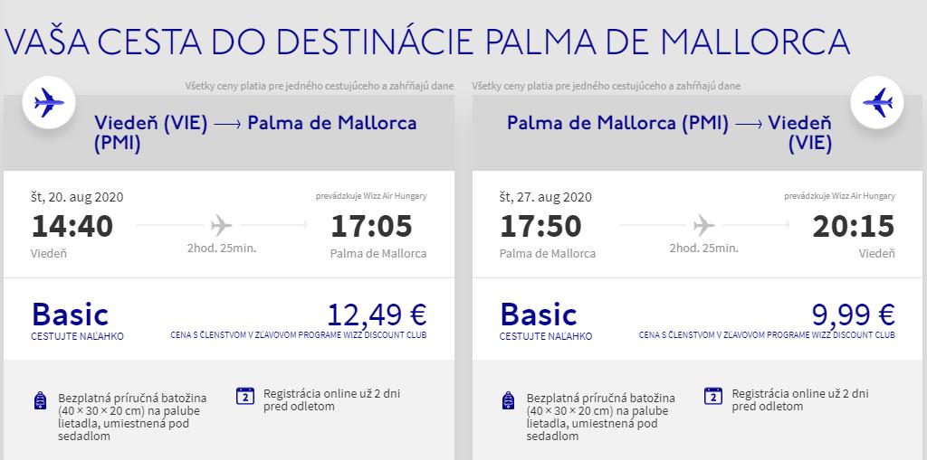 Mallorca koncom letných prázdnin. Letenky z Viedne už od 22 eur