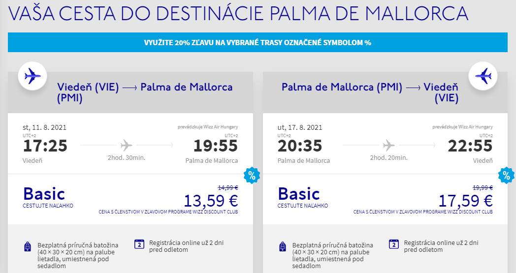 Mallorca počas letných prázdnin. Letenky z Viedne už od 31 eur