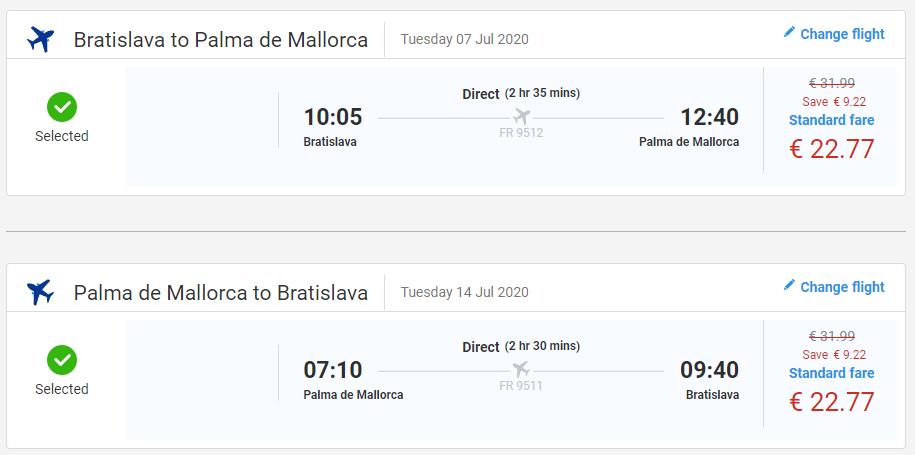 Mallorca z Bratislavy cez letné prázdniny s letenkami od 46 eur