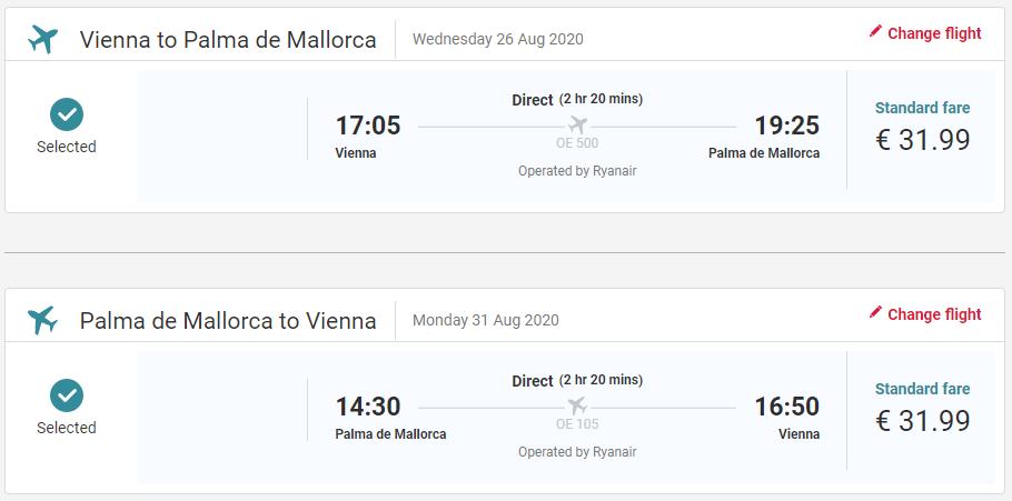 Mallorca z Viedne koncom letných prázdnin s letenkami od 64 eur