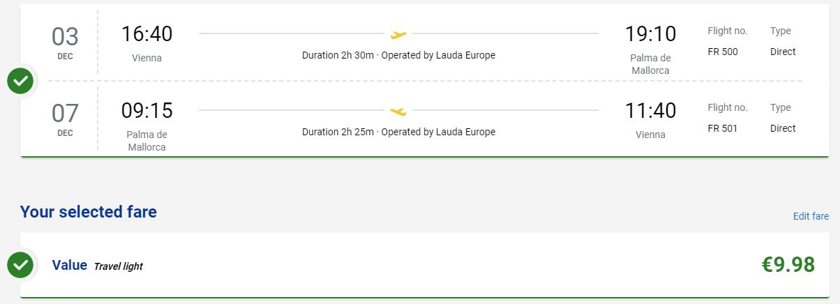 Mallorca z Viedne s letenkami od 10 eur