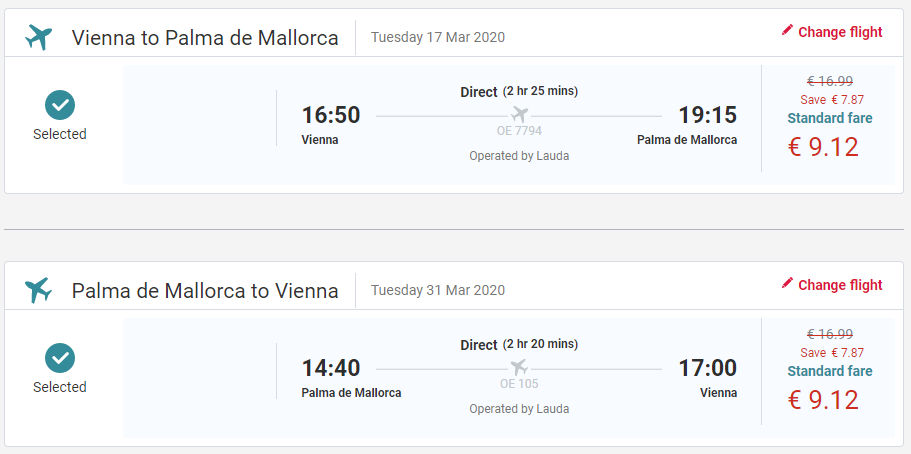 Mallorca z Viedne s letenkami od 18 eur