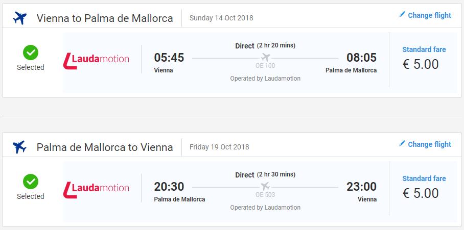 Malorka z Viedne v októbrových termínoch s letenkami od 10 eur