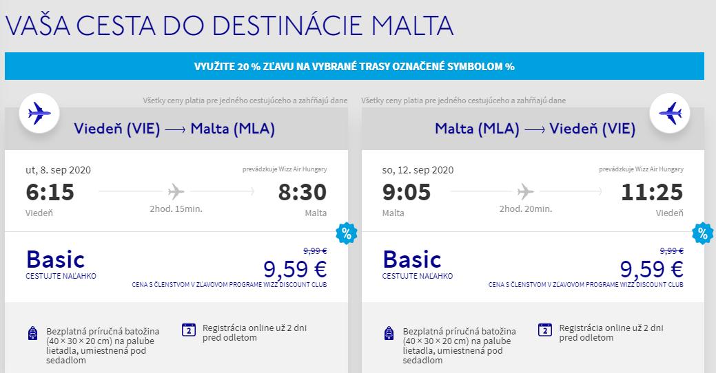 Malta koncom leta. Spiatočné letenky z Viedne už od 19 eur