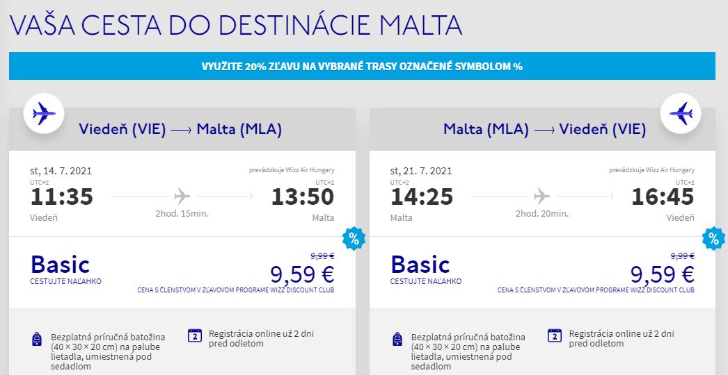 Malta v júlových termínoch s letenkami z Viedne od 19 eur