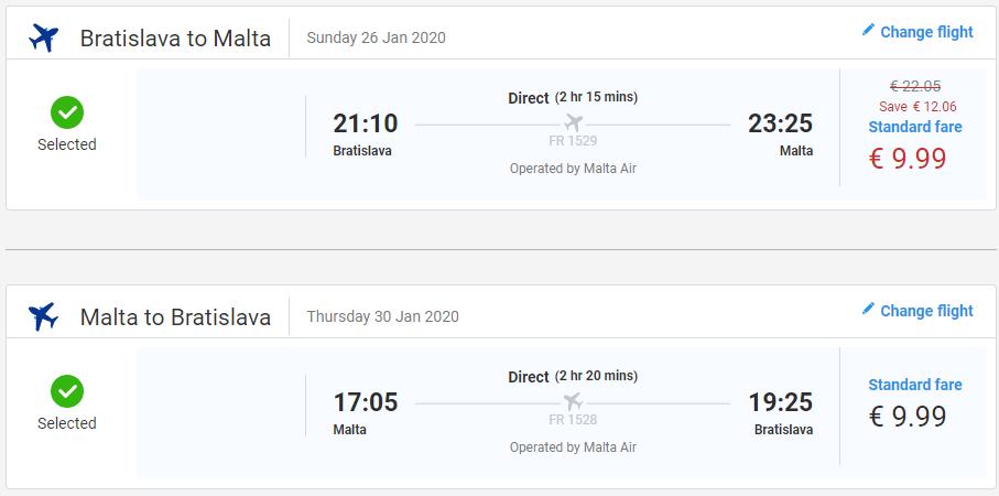Malta z Bratislavy s letenkami od 20 eur
