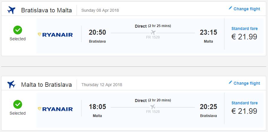Malta z Bratislavy v jarných termínoch s letenkami od 44 eur