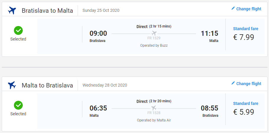 Malta z Bratislavy v jesenných termínoch s letenkami od 14 eur