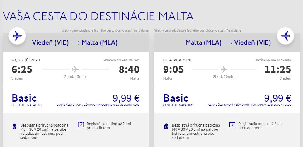 Malta z Viedne cez letné prázdniny s letenkami od 20 eur