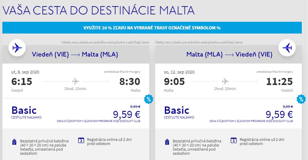Malta z Viedne koncom leta s letenkami od 19 eur