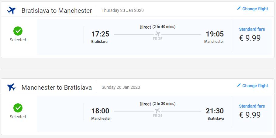 Manchester z Bratislavy s letenkami už od 20 eur