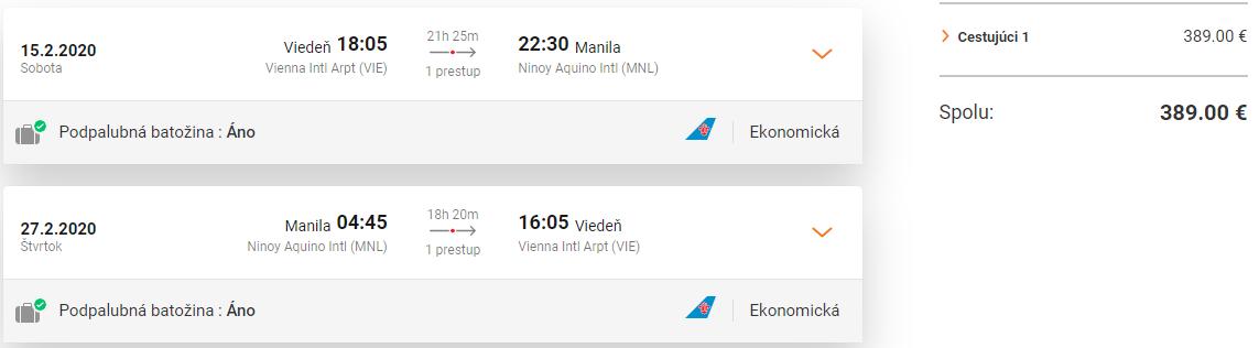 Manila z Viedne v hlavnej sezóne s letenkami od 389 eur