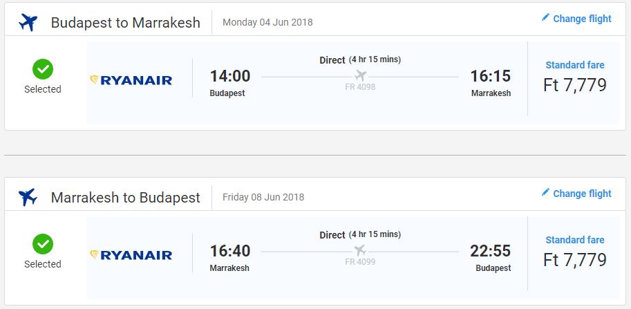 Marakéš z Budapešti s letenkami od 49 eur